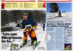 Ornahög - Lite som riksgränsen, ha-ha..., Kvällsposten 2015-02-12